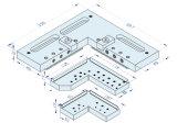 тиски комбинированного квадрата a-One для Wedm зажимая 3A-210013