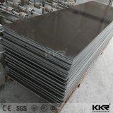 Superfície contínua acrílica de pedra artificial preta pura do material de construção (171030)