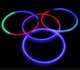 22,8 '' Individual Foilbag Tri Color Glow Plastic Necklace