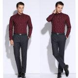 Camice sottili di affari del vestito da misura del manicotto lungo convenzionale della camicia degli uomini