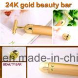 Massager dourado componente da pele da face da barra 24K da beleza da energia do ouro real portátil Home do uso