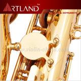 Eb-goldenes Lack-Schlüsselende-Berufsalt-Saxophon (AAS5506G)