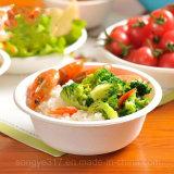 Tazón de fuente ambiental disponible blanco del embalaje del papel de la comida campestre