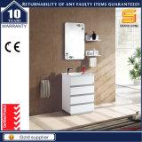 Governo bianco personalizzato di vanità della stanza da bagno del MDF con il lavabo