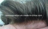Dos homens Undetectable da linha fina do projeto do HOL Toupee do cabelo