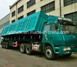 45m3 Aanhangwagen 3 van de stortplaats de Vrachtwagen van de Aanhangwagen van de Kipper van de As voor Steenkool