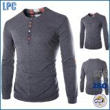 Großhandelszoll-Baumwollanges Hülsen-Mann-T-Shirt 100%