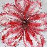 Pintura a óleo de florescência grande da lona da flor da venda quente para a sala de visitas