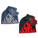 Прелестная детей Earflap трикотажные Red Hat и вещевого ящика (JRK091)