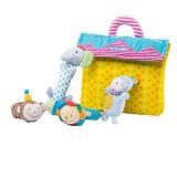 Kundenspezifischer Plüsch-Tierform-Baby-Geklapper-Spielzeug