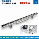 IP67 Wallwasher 18-24W camisa LED de luz para projeto de iluminação