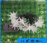 Lumière en caoutchouc solaire à neige en plastique pour la décoration de Noël