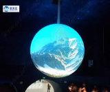 Afficheur LED rond polychrome extérieur P7.62 de 360 degrés