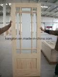 Porte en bois intérieure de panneau en verre (KD17B-G) (porte en bois solide)