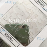 Blatt des Edelstahl-Farben-HaarstrichKbh006 für Dekoration-Materialien