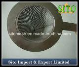 Filtro de forma de cone de aço inoxidável perfurado