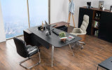 Nouveau bureau de bureau moderne en bois en cuir (V18A)