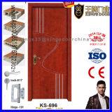 Puerta de madera sólida del diseño bonito del dormitorio
