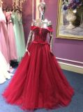 Линия/платье Princess вечера для Wedding с отбортовывать лиф