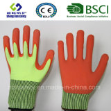 Las obras de seguridad resistentes a la seguridad Glovescut Guante con Sandy recubierto de nitrilo guantes de seguridad