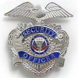 La Fundición personalizado insignia de la policía Seuurity pasador de seguridad Tienda Tin
