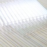 Folha 6mm gêmea transparente da cavidade da parede do policarbonato para o telhado