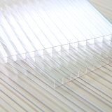 Polycarbonat-transparentes 6mm Doppelwand-Höhlung-Blatt für Dach
