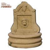 Sculpté à la main mur en pierre fontaine en marbre jaune