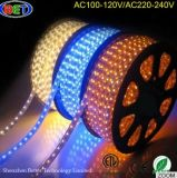 5050 de alto brillo LED luces tiras de 12 voltios 110V 2700k