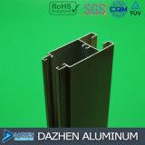 Profil en aluminium de tissu pour rideaux de porte de guichet pour le marché du Nigéria Afrique