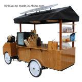 O alimento móvel do preto elétrico do caminhão do alimento transporta o carro Multifunction do alimento