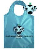 Saco de promoção de compras reutilizáveis reutilizáveis de moda com bolsa 3D, estilo cão animal, reutilizável, leve, sacos de supermercado e acessível, Eco, presentes