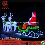Chritmas 3D 220V Acrylique Santa Claus Deer Motif Light pour Décoration de Noël