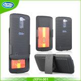 Capa de telefone personalizada com boa aparência com slot para cartão para LG K10