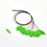 Sc Upc APC 1X4/1X8/1X16//1X32/1X64のファイバーの光学鋼鉄管PLCのディバイダー