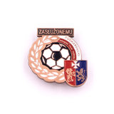 Soft Enamel Soccer Tin Button Badge of Honor ON Clothes Quotes Size Shield