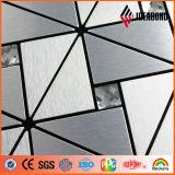 Couleur du mur rideau plaque en aluminium brossé (série)