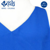 Blusa floja atractiva de la manera del V-Neckline sin mangas azul