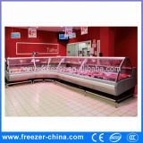 Xuzhou Supermarché Supermarché Boucherie Shop Meat Display Refrigerator