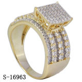 Nueva joyería de imitación del anillo de la plata esterlina del modelo