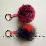 Keychainの毛皮の球のアクセサリPomsのための優雅な毛皮のポンポン