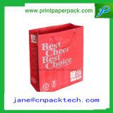 Напечатанный таможней мешок подарка сумок покупкы Tote бумаги картона