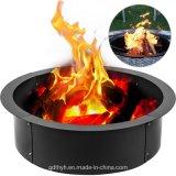 Bague en acier solide Fire Pit Outdoor Insérer la brique Journal du bois de chauffage de gravure de 39 pouces