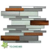 ガラス混合された木製のモザイク(TG-OWD-965)