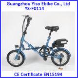 Nueva bici plegable eléctrica caliente de 12 o 14 pulgadas con la batería de litio