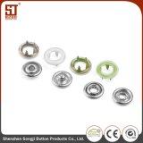 Botón redondo del metal del broche de presión de entonado de colores individual del diente para los bolsos