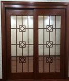 Puerta de madera de desplazamiento de cristal de la entrada del cuarto de baño (GSP3-016)