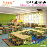 Kids Wooden Desk and Chairs set, Wood Nursery Classroom Furniture
