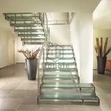 Escalera de acero recta interior modificada para requisitos particulares