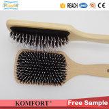 Fsc de madera barba Paddle Cushion jabalí cerda cepillo de pelo (JMHF-127)